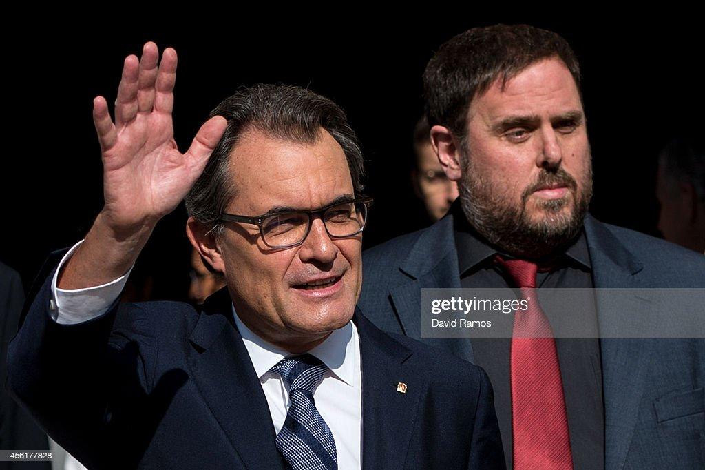 Catalan Leader Artur Mas Signs Decree For Independence Referendum