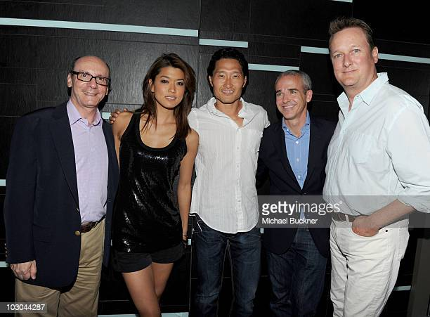 President of CBS Marketing Group George Schweitzer actors Grace Park and Daniel Dae Kim Entertainment Weekly Publisher Jess Cagle and Entertainment...