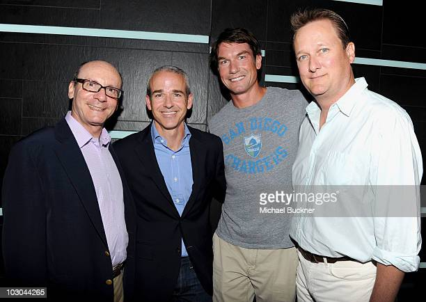 President of CBS Marketing Group George Schweitzer Entertainment Weekly Publisher Jess Cagle actor Jerry O'Connell and Entertainment Weekly managing...