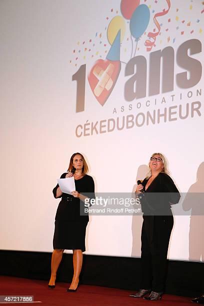 President of 'CekeDuBonheur' Helene Sy and godmother of CKDB Valerie Damidot attend the Samba Premiere to Benefit 'CekeDuBonheur' which celebrates...