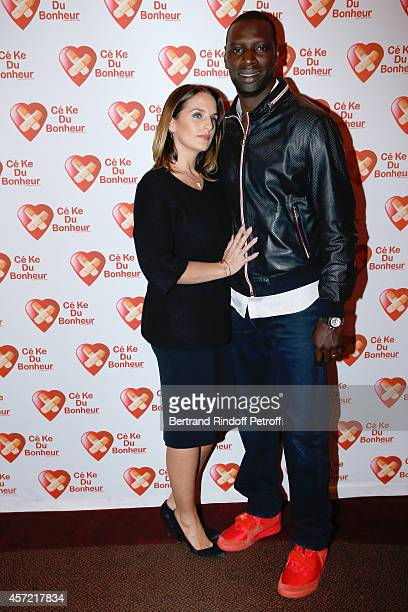 President of 'CekeDuBonheur' Helene Sy and her husband Honorary President of 'CekeDuBonheur' actor Omar Sy attend the Samba Premiere to Benefit...