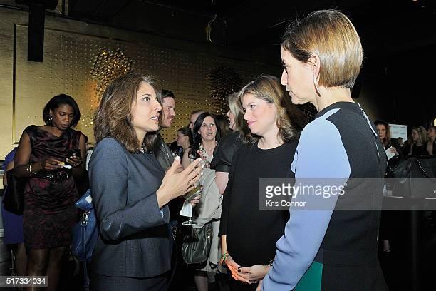 President of Center for American Progress Neera Tanden Glamour Washington DC Editor Giovanna Gray Lockhart and Glamour EditorinChief Cindi Leive...