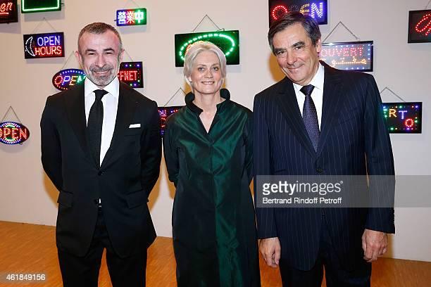President of Centre Pompidou Alain Seban Francois Fillon and his wife Peneloppe attend the Societe des Amis du Musee National d'Art Moderne Dinner at...