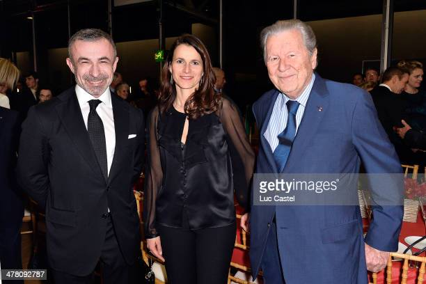 President of Centre Pompidou Alain Seban French Culture Minister Aurelie Filippetti and Bruno Roger attend the 'Societe des amis du Musee D'Art...