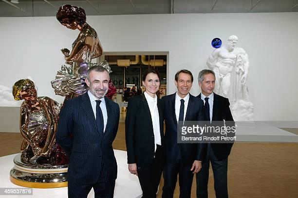 President of Centre Pompidou Alain Seban Politician Aurelie Filippetti artist Jeff Koons Director of the Centre Pompidou Museum of Modern Art Bernard...