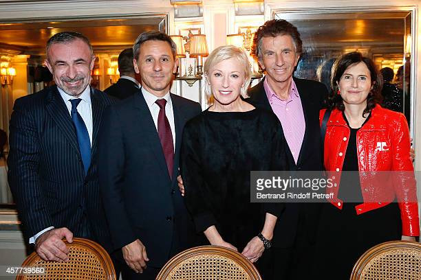 President of Centre Pompidou Alain Seban President of Monnaie de Paris Christophe Beaux Photographer Cindy Sherman Jack Lang and his daughter...