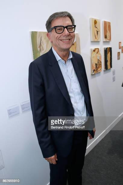 President of Centre Pompidou Serge Lasvignes attends the FIAC 2017 International Contemporary Art Fair Press Preview at Le Grand Palais on October 18...