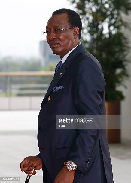 President of Chad Idriss Deby arrives at the Hangzhou International Expo Center on September 4 2016 in Hangzhou China World leaders are gathering for...