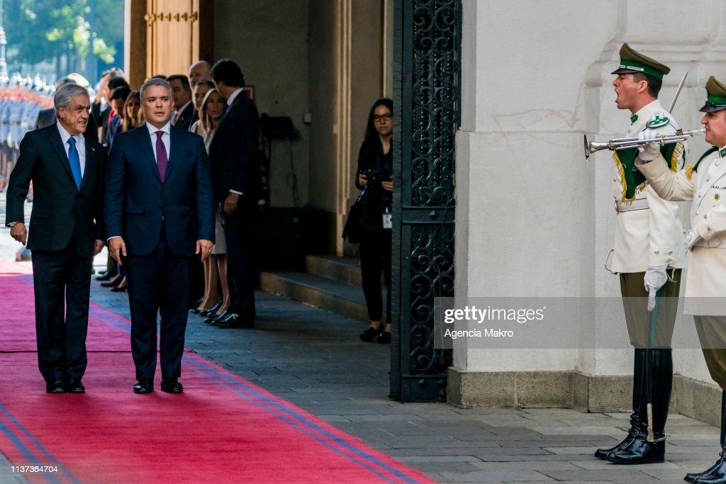 CHL: Iván Duque Meets Sebastian Piñera In Chile