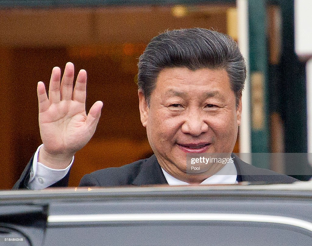 President of China Xi Jinping arrives for the working dinner for the heads of delegations at the Nuclear Security Summit on the South Lawn of the White House March 31, 2016 in Washington, D.C..