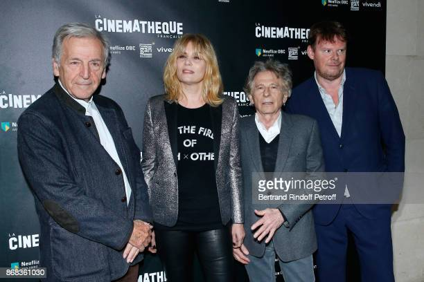 President of Cinematheque Francaise Constantin CostaGavras actress Emmanuelle Seigner director Roman Polanski and General Director of Cinematheque...