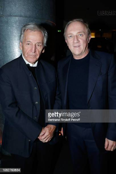 """President of Cinematheque Francaise Constantin Costa-Gavras and CEO of Kering Group, Francois-Henri Pinault attend the Kering """"Women in Motion""""..."""