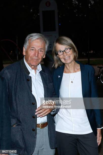 President of Cinematheque Francaise Constantin CostaGavras and Minister of Culture Francoise Nyssen attend the Barbara Paris Premiere at Cinematheque...