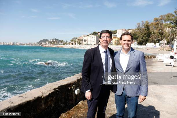 President of Ciudadanos party Albert Rivera and Andalusian Vice President Juan Marin present new measures for the regeneration of Andalusia and the...