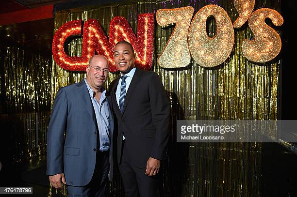 President of CNN Worldwide Jeff Zucker and Don Lemon attend the CNN The Seventies Launch Party at Marquee on June 9 2015 in New York City 25520_172JPG
