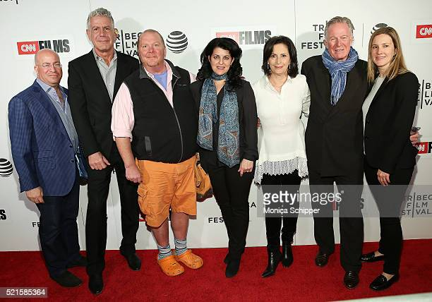 President of CNN Worldwide Jeff Zucker executive producer Anthony Bourdain chef Mario Batali director Lydia Tenaglia chef Jeremiah Tower and guests...