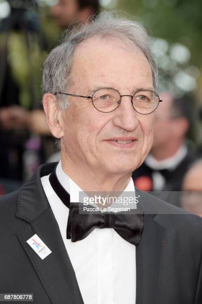 President of CNOSF Denis Masseglia attends the 'The Beguiled' screening during the 70th annual Cannes Film Festival at Palais des Festivals on May 24...