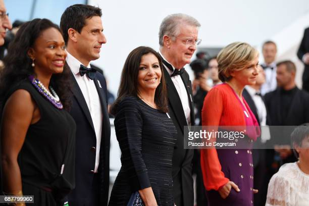 President of CNOSF Denis Masseglia Minister of Sports Laura Flessel CoPresident 2024 Olympics bid Tony Estanguet Mayor of Paris Anne Hidalgo...