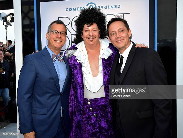 President of Comedy Central Kent Alterman comedian Jeffrey Ross and Senior Vice President Talent and Specials at Comedy Central Jonas Larsen attend...