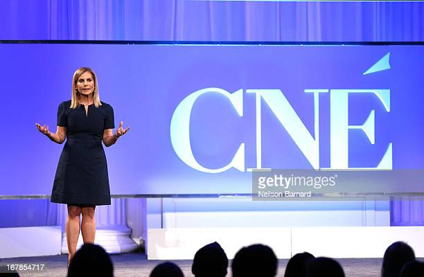 President of Conde Nast Entertainment Dawn Ostroff speaks at the Conde Nast Entertainment NewFront presentation on May 1 2013 in New York City CNE...