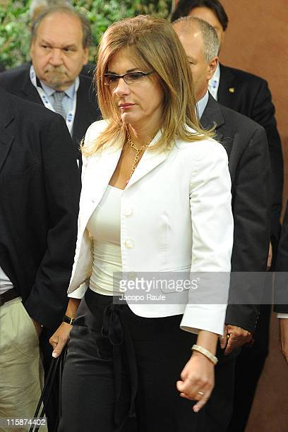 President of Confindustria Emma Marcegaglia attends 41st Santa Margherita Ligure Congress on Jun 11 2011 in Santa Margerita Ligure Italy...