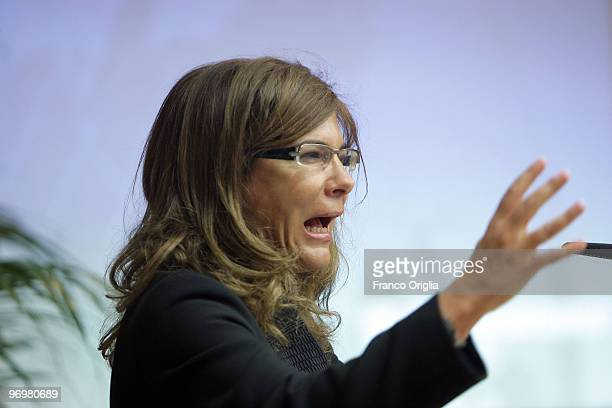 President of Confindustria Emma Marcegaglia attends LUISS School Of Government inaugural ceremony on February 23 2010 in Rome Italy The LUISS School...