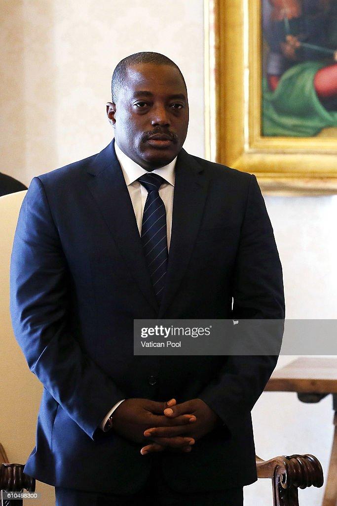 Pope Francis Meets President Of Congo Kinshasa Joseph Kabila : News Photo