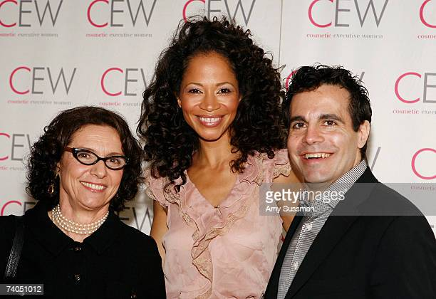 President of Cosmetic Executive Women Carlotta Jacobson Sherri Saum and Mario Cantone attend the 13th Annual Cosmetic Executive Women Beauty Awards...