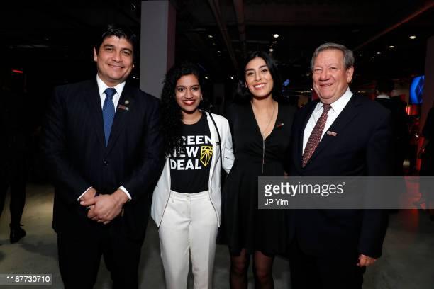 President of Costa Rica Carlos Alvarado Quesada Varshini Prakash Alexandra Rojas and Rodrigo A Carazo attend TIME 100 Next 2019 at Pier 17 on...