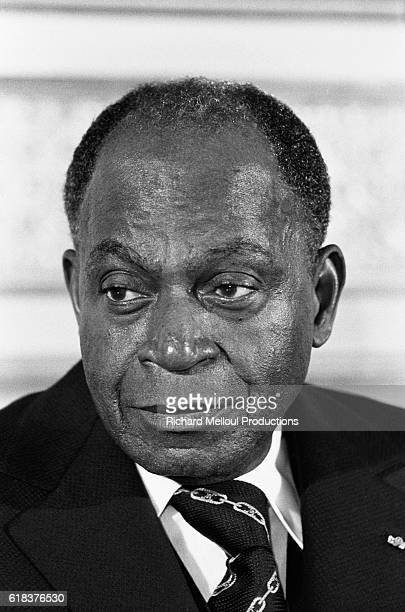 President of Cote d'Ivoire Felix HouphouetBoigny visits Paris During his visit he met with French President Valery Giscard d'Estaing