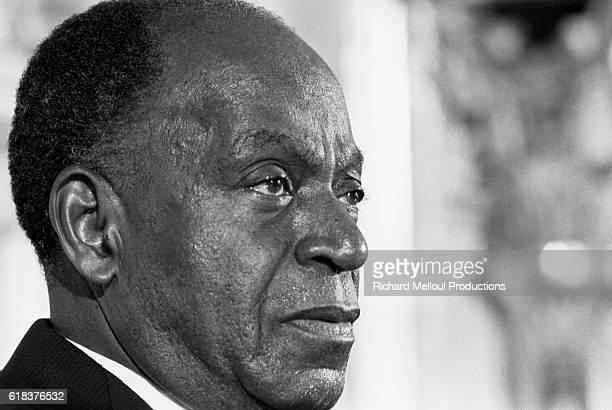 President of Cote d'Ivoire Felix HouphouetBoigny visits Paris