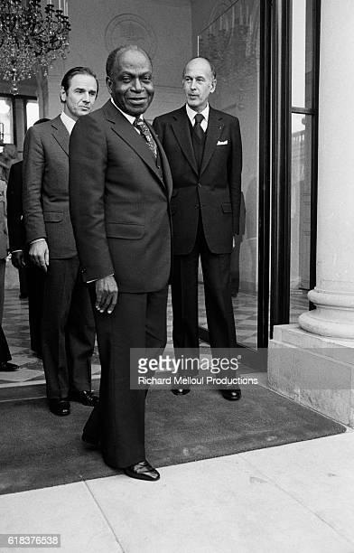 President of Cote d'Ivoire Felix Houphouet-Boigny visits Paris.