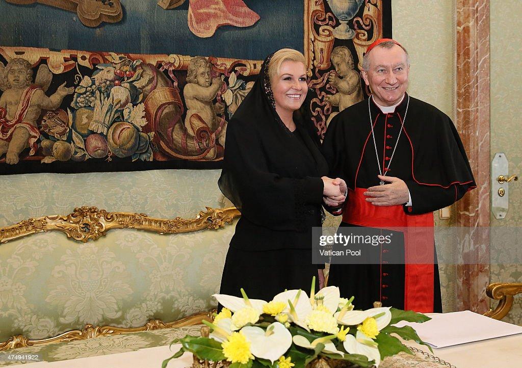 Pope Francis Meets President of  Croatia Kolinda Grabar-Kitarovic