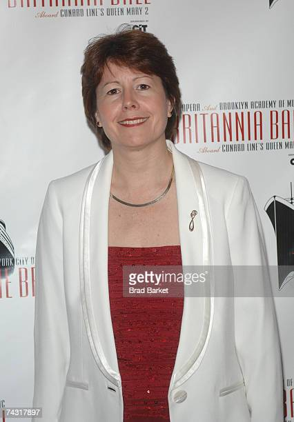 President of Cunard Line Carol Marlow attends the Britannia Ball at the Brooklyn Cruise Terminal on May 24 2007 in Brooklyn New York
