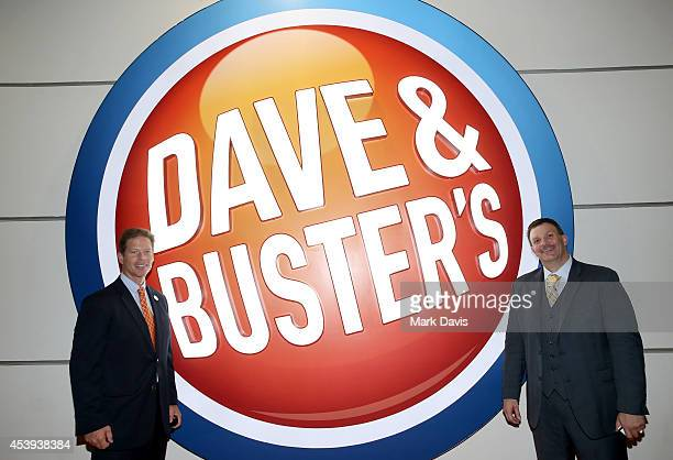 President of Dave & Buster's Dolf Berle and Regional Operations Director at Dave & Buster's Sean McCullough attend Dave & Buster's Hollywood &...