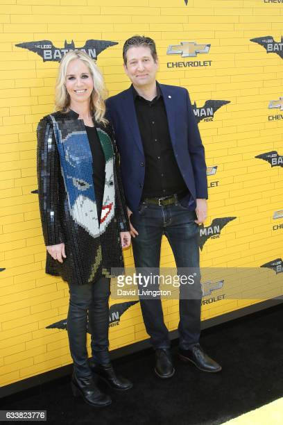 President of DC Entertainment and President of Warner Bros Consumer Products Diane Nelson and LEGO brick artist The Art of the Brick' Nathan Sawaya...