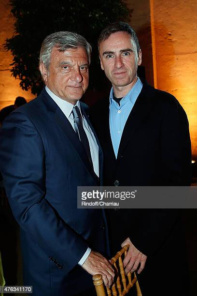 President of Dior Couture Sidney Toledano and Dior Designer Raf Simons attend the Grand Opening Anish Kapoor's Exhibition at Chateau de Versailles on...