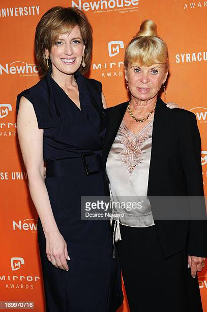 President of Disney/ABC Anne Sweeney and Kari Clark attend the 2013 Newhouse Mirror Awards Luncheon at Cipriani 42nd Street on June 5 2013 in New...
