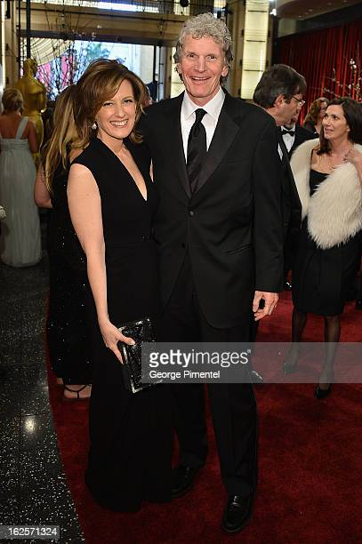 President of DisneyABC Television Group Anne Sweeney and husband Phil Miller arrive at the Oscars at Hollywood Highland Center on February 24 2013 in...