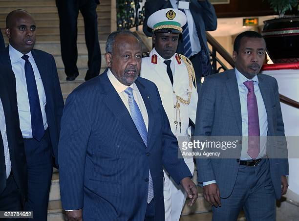President of Djibouti Ismail Omar Guelleh leaves the hotel after the end of the session during the 29th Intergovernmental Authority on Development...