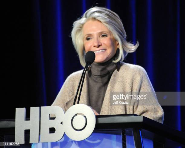 President of Documentary and Family Programming for HBO and Cinemax Sheila Nevins speaks during the HBO portion of the 2010 Television Critics...