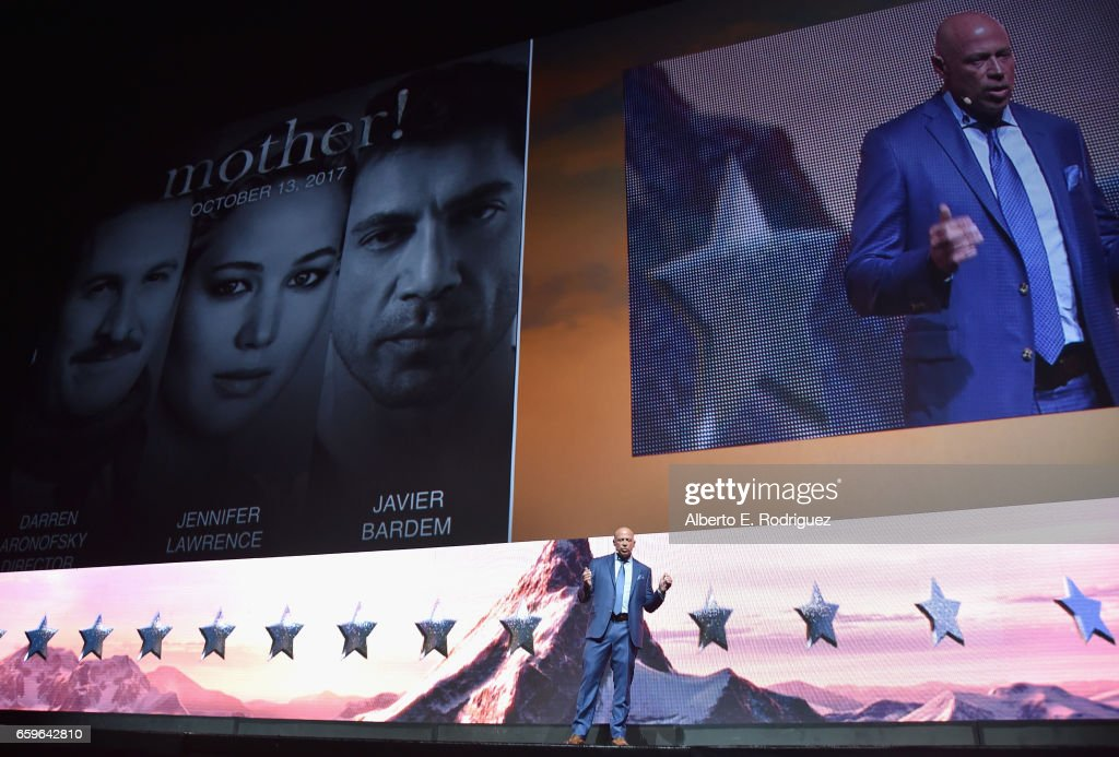 President of Domestic Distribution at Paramount, Kyle Davies speaks onstage at CinemaCon 2017 Paramount Pictures Presentation Highlighting Its Summer of 2017 and Beyond at The Colosseum at Caesars Palace during CinemaCon, the official convention of the National Association of Theatre Owners, on March 28, 2017 in Las Vegas, Nevada.