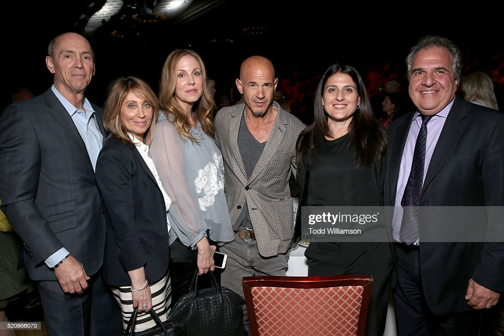 "President of Domestic Distribution for 20th Century Fox Chris Aronson, Stacey Snider, Co-Chair of the film studio at 20th Century Fox, producer Mary Parent, Brad Weston, President/CEO of New Regency, producer Pamela Abdy and Fox Filmed Entertainment Chairman and CEO Jim Gianopulos attend CinemaCon and 20th Century Fox Present ""From Passion to the Big Screen: An Afternoon with the Creative Team Behind 'The Revenant'"" at Caesars Palace during CinemaCon, the official convention of the National Association of Theatre Owners, on April 13, 2016 in Las Vegas, Nevada."
