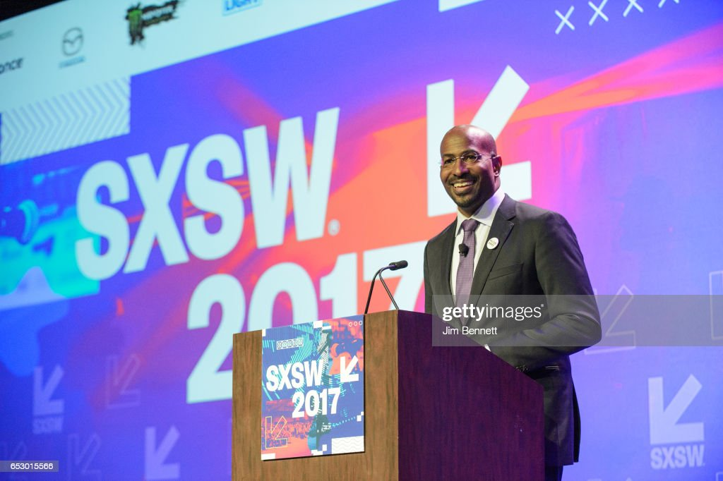 President of DreamCorps Van Jones delivers a talk on The Messy Truth during the SxSW Conference at the Austin Convention Center on March 10, 2017 in Austin, Texas.