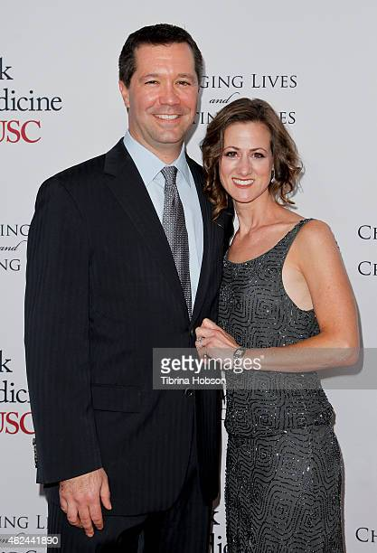 President of DreamWorks Studios Jeff Small and his wife attend the USC Institute of Urology 'Changing Lives And Creating Cures' Gala at the Beverly...