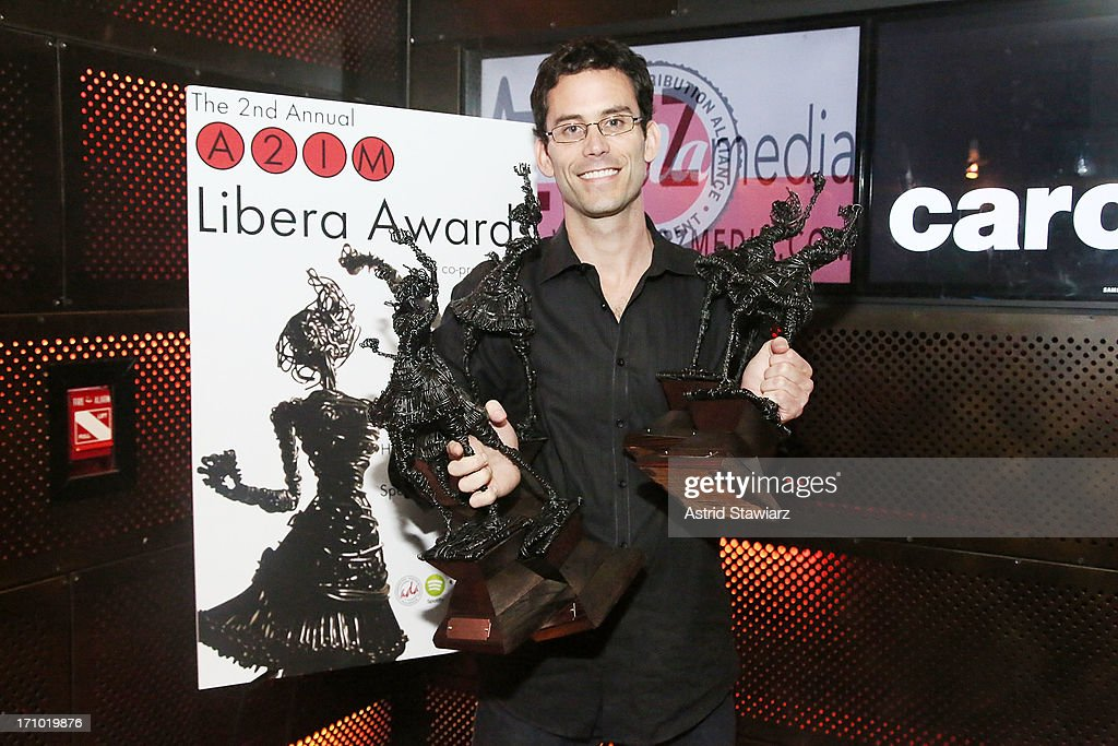 President of Dualtone Music Group, Paul Roper, poses for photos during 2nd Annual Libera Awards at Highline Ballroom on June 20, 2013 in New York City.