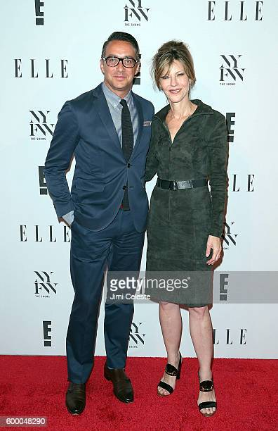 President of E Adam Stotsky and EditorInChief Elle Robbie Myers attend E ELLE IMG KickOff NYFW The Shows with an Exclusive Celebration at Santina on...