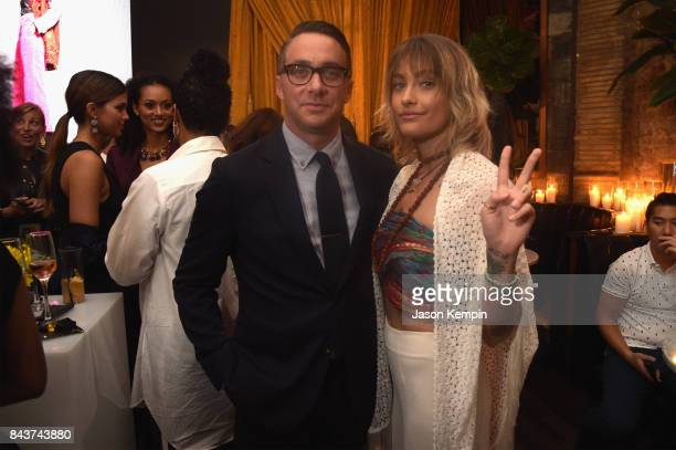 President of E Entertainment Adam Stotsky and Paris Jackson attend the NYFW Kickoff Party A Celebration Of Personal Style hosted by E ELLE IMG and...