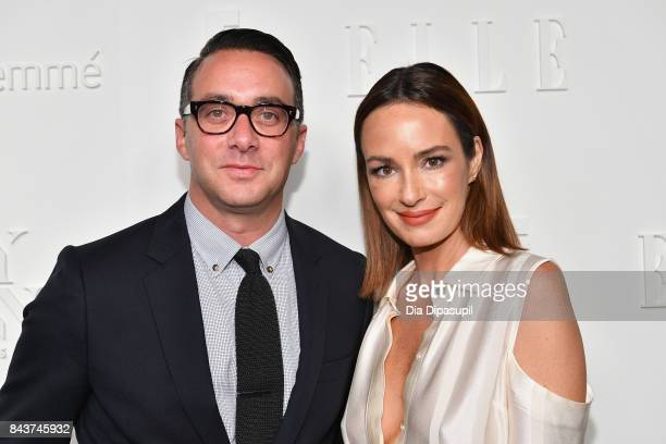 President of E Entertainment Adam Stotsky and TV Host Catt Salder attend the NYFW Kickoff Party A Celebration Of Personal Style hosted by E ELLE IMG...