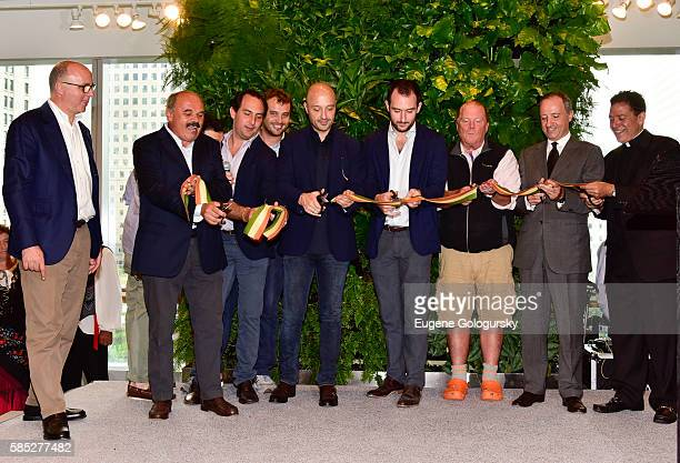 President of Eataly Worldwide Andrea Guerra, Founder of Eataly Oscar Farinetti, US Partner Adam Saper, CEO Eataly USA Nicola Farinetti, Eataly US...